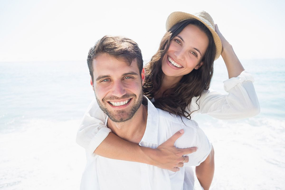 Couple at the beach - Westlake Family Dentistry